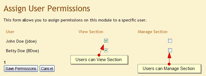 Assign User Permissions to Exponent CMS Page