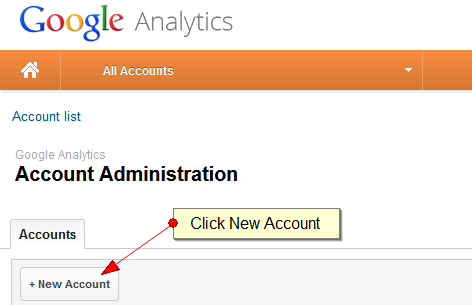 Create a new Google Analytics Account for your Exponent CMS Website