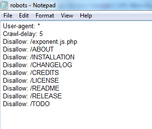 Exponent CMS Robots.txt for Advanced SEO